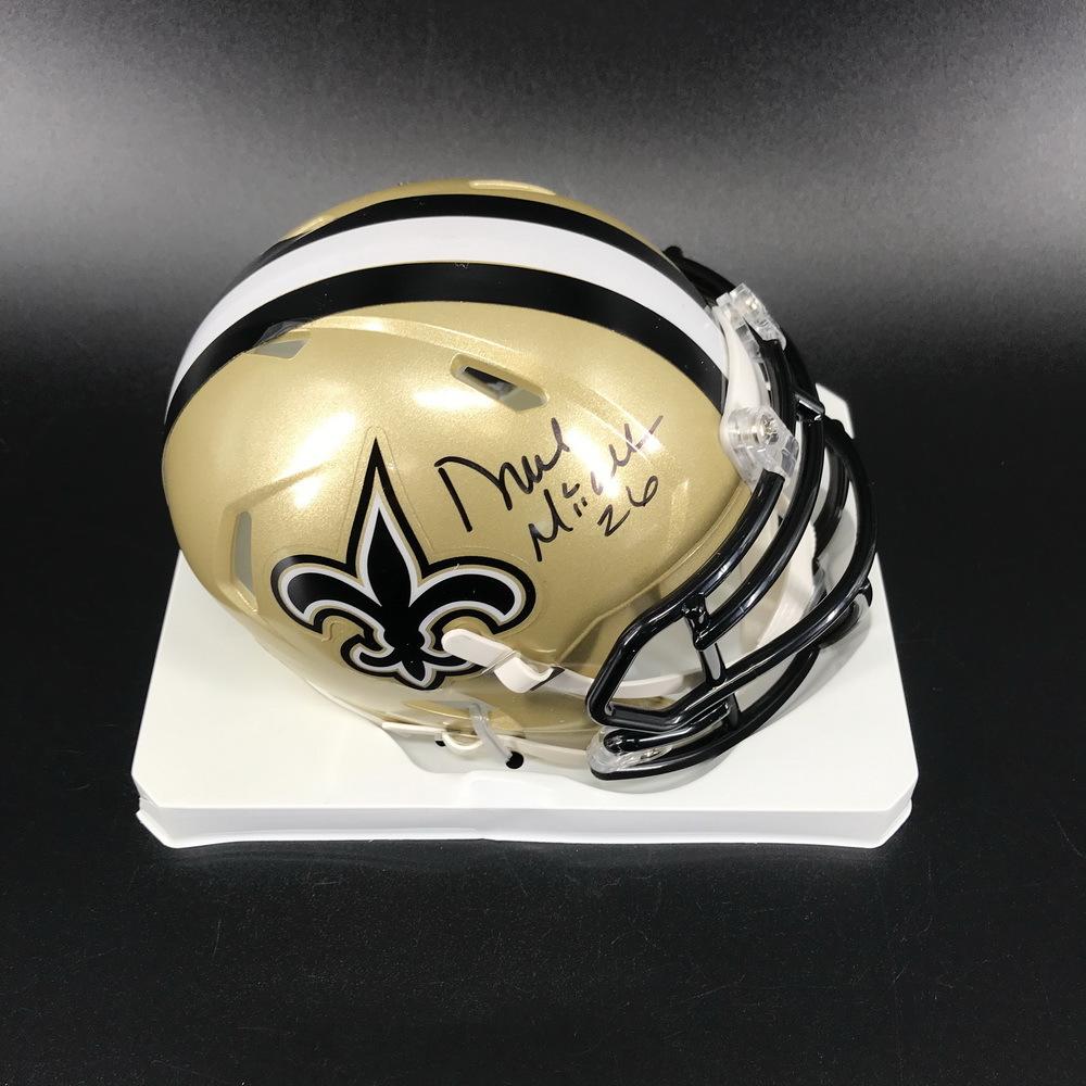 Legends - Saints Duece McCalister Signed Mini Helmet