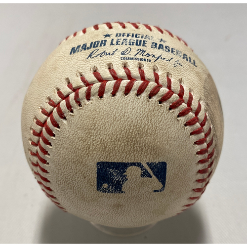 Photo of 2021 Game Used Baseball used on 8/12 vs. COL - T-3: Webb to Marquez - Strike Out Looking