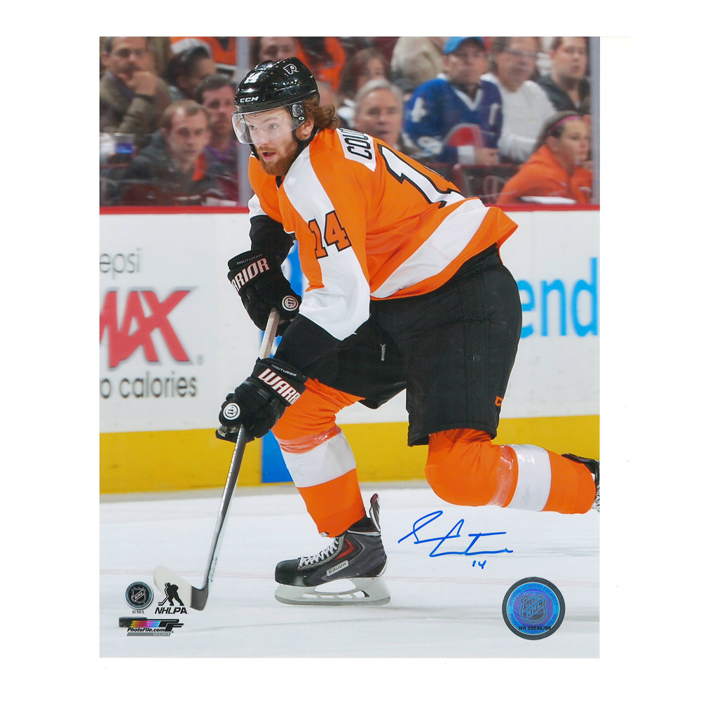 SEAN COUTURIER Signed Philadelphia Flyers 8 X 10 Photo - 70463
