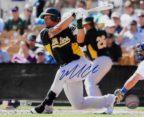 Michael Choice Autographed 8x10 Photo (Batting)