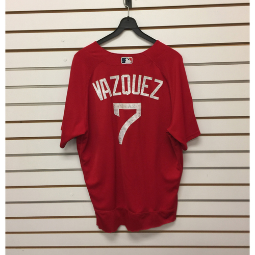 Photo of Christian Vazquez Team-Issued 2017 Spring Training Jersey