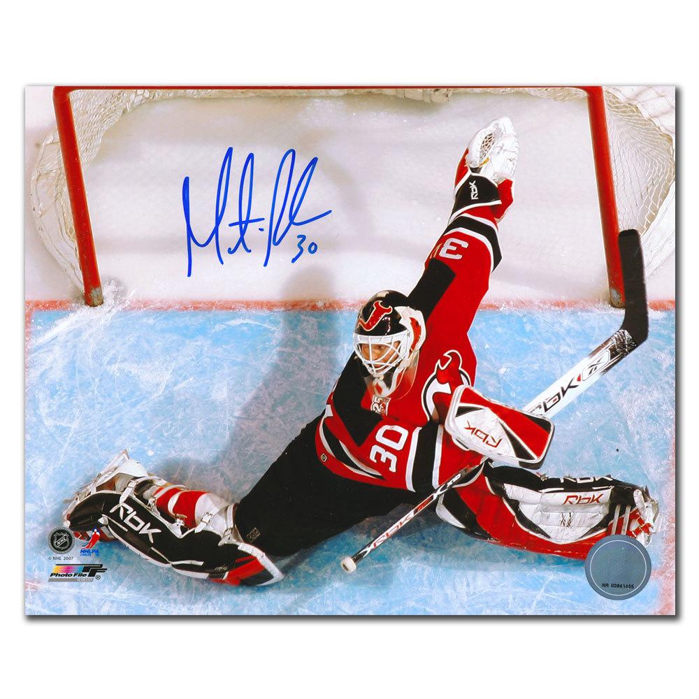 Martin Brodeur New Jersey Devils OVERHEAD Autographed 8x10