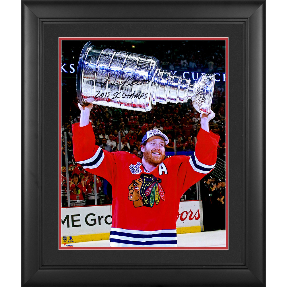 Duncan Keith Chicago Blackhawks 2015 Stanley Cup Champions Framed Autographed 16