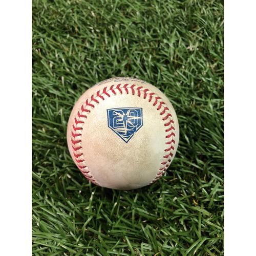 Photo of 20th Anniversary Game Used Baseball: Ji-Man Choi single and Joey Wendle foul ball off Adam Warren - July 23, 2018 v NYY