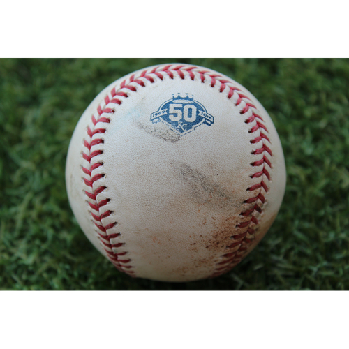 Photo of Game-Used Baseball: Yan Gomes 116th Career Double (CLE @ KC - 8/24/18)