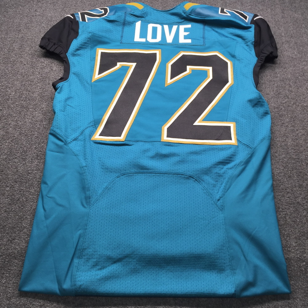 official photos bf729 ee70c NFL Auction | Jaguars - Kyle Love Game Issued Jersey Size 46
