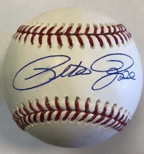 Photo of Pete Rose Autographed Baseball