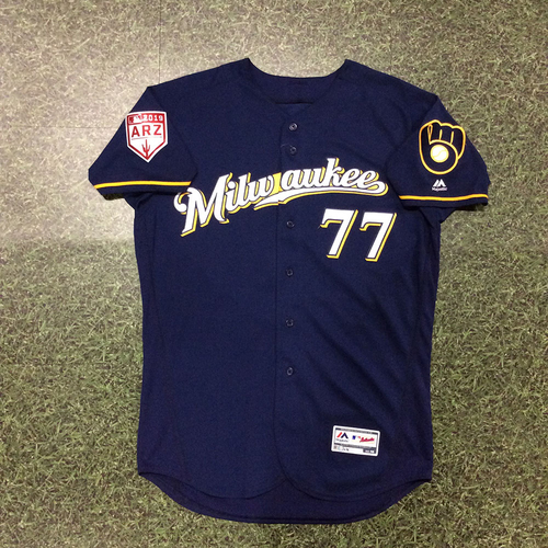 Photo of Lucas Erceg 2019 Game-Used Spring Training Jersey (Milwaukee Brewers #8 Prospect)