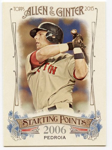 Photo of 2015 Topps Allen and Ginter Starting Points #SP12 Dustin Pedroia
