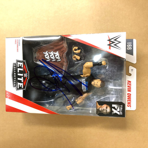 Kevin Owens SIGNED Elite Series 66 Figure