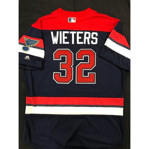Matt Wieters Team Issued 2019 St. Louis Blues Themed Cardinals Jersey (Size 48)