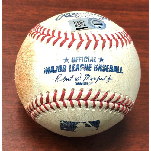 Photo of Game Used Baseball: Ji-Man Choi triple off Gabriel Ynoa - September 3, 2019 v BAL