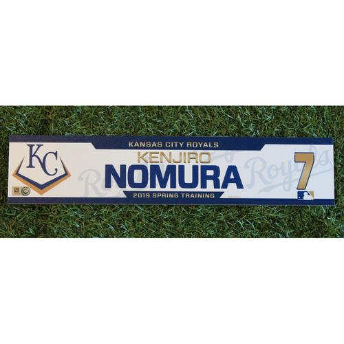 Photo of Team-Issued Locker Tag: Kenjiro Nomura