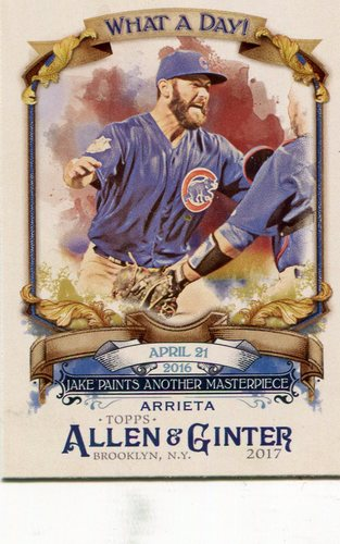 Photo of 2017 Topps Allen and Ginter What a Day #WAD76 Jake Arrieta
