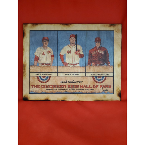 Photo of 2018 Reds HOF Inductees Wood Art Piece