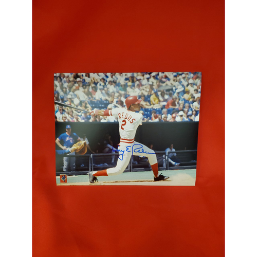 Photo of Gary Redus Autographed Photo (Batting against Mets)