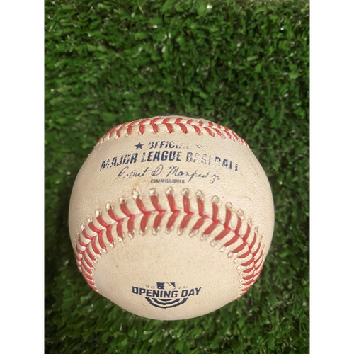 Photo of Freddie Freeman Game Used Hit Double Baseball - July 29, 2020 - Opening Day at Truist Park
