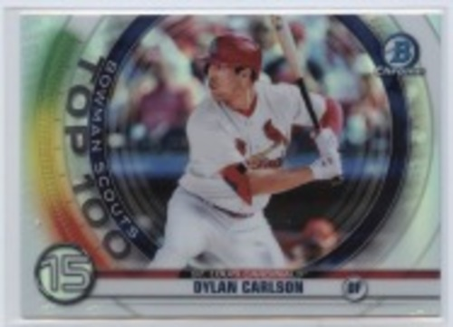 Photo of 2020 Bowman Chrome Scouts Top 100 #BTP15 Dylan Carlson