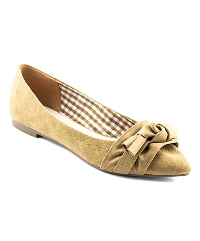 Photo of Nature Breeze Bow-Accent Wanda Faux Suede Flat