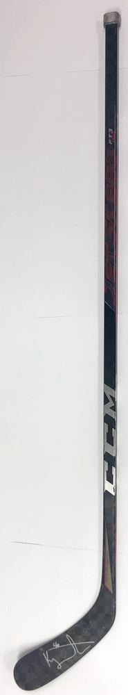 #56 Kailer Yamamoto Game Used Stick - Autographed - Edmonton Oilers