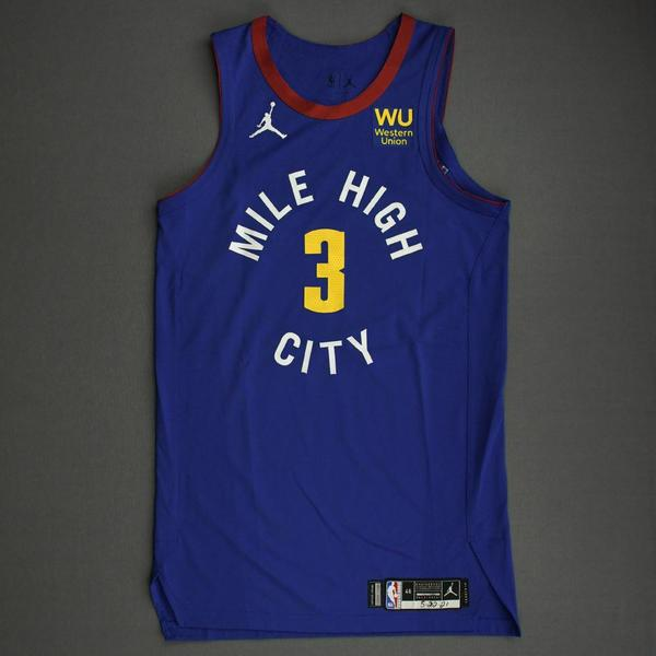 Image of Shaquille Harrison - Denver Nuggets - Game-Worn Statement Edition Jersey - Dressed, Did Not Play (DNP) - 2021 NBA Playoffs