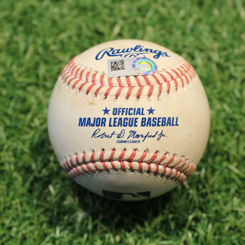 Photo of Game-Used Baseball: Shane Bieber 573rd Career Strikeout (CLE@KC 5/5/21)