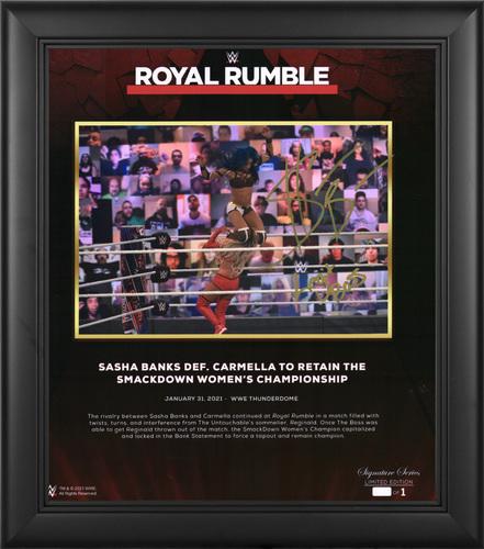 Photo of Sasha Banks SIGNED Royal Rumble 2021 Signature Series Plaque (#1 of 1)