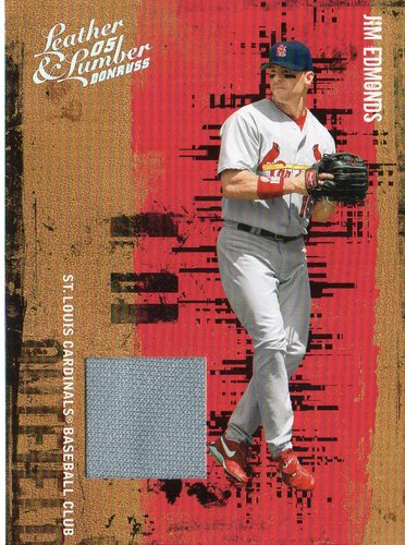 Photo of 2005 Leather and Lumber Materials Jersey #64 Jim Edmonds/250