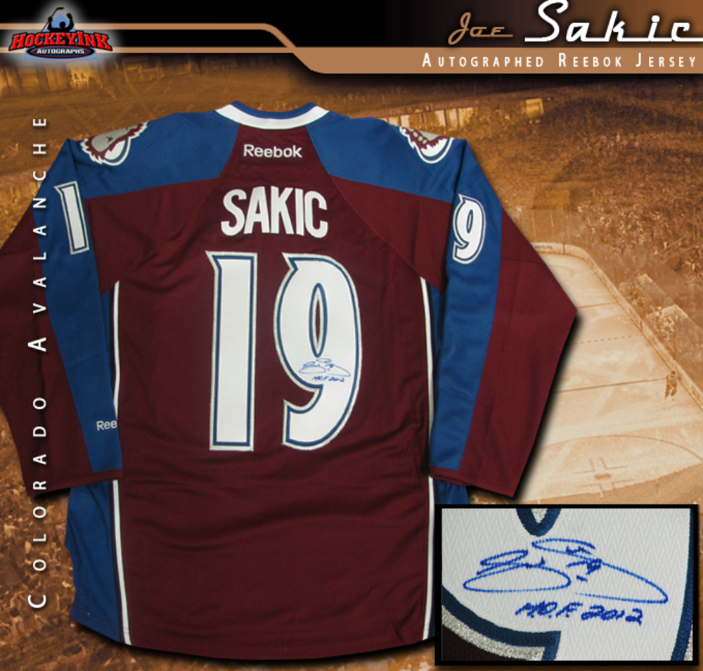 JOE SAKIC Signed Colorado Avalanche Burgandy Reebok Jersey - HOF 2012