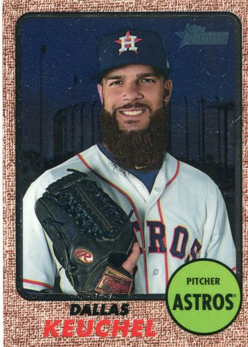 Photo of 2017 Topps Heritage Chrome  Dallas Keuchel
