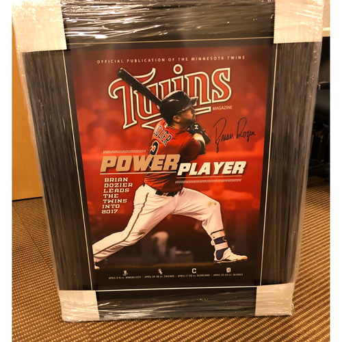 Photo of Brian Dozier Framed Autographed Poster