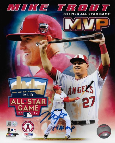 "Photo of Mike Trout ""14 AS MVP"" Autographed 8x10 Photo (2014 All-Star Game MVP)"
