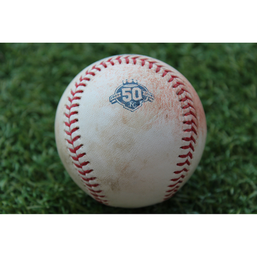 Photo of Game-Used Baseball: Jose Ramirez 634th Career Hit (CLE @ KC - 8/24/18)