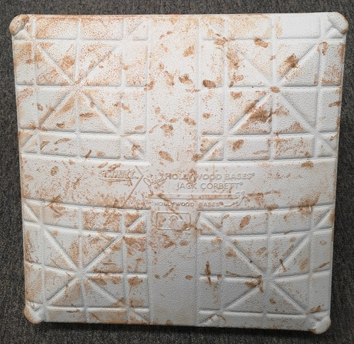 Photo of Authenticated Game Used Opening Day Base - 2nd Base for Innings 1 to 3 (March 28, 2019) vs Tigers. Marcus Stroman pitched 7 Shutout Innings