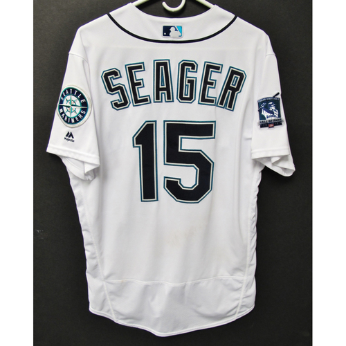 Photo of Seattle Mariners 2019 Kyle Seager Game-Used Jersey - Edgar Martinez Hall of Fame Celebration Weekend - August 9-11