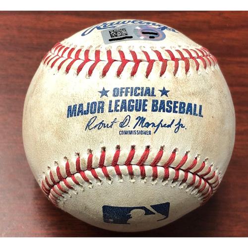 Photo of Game Used Baseball: Avisail Garcia triple and Nate Lowe RBI sac-fly off Brock Stewart - September 5, 2019 v TOR