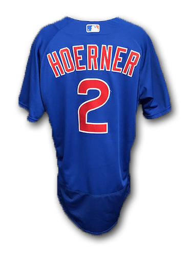 Photo of Nico Hoerner Game-Used Jersey -- Cubs at Cardinals -- 9/29/19 -- Size 46