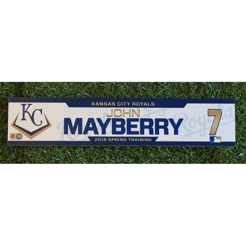 Photo of Team-Issued Locker Tag: John Mayberry