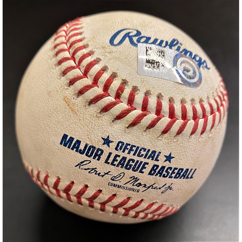 Photo of Game-Used Baseball:  Christian Colon Cincinnati Reds Double (MLB AUTHENTICATED)