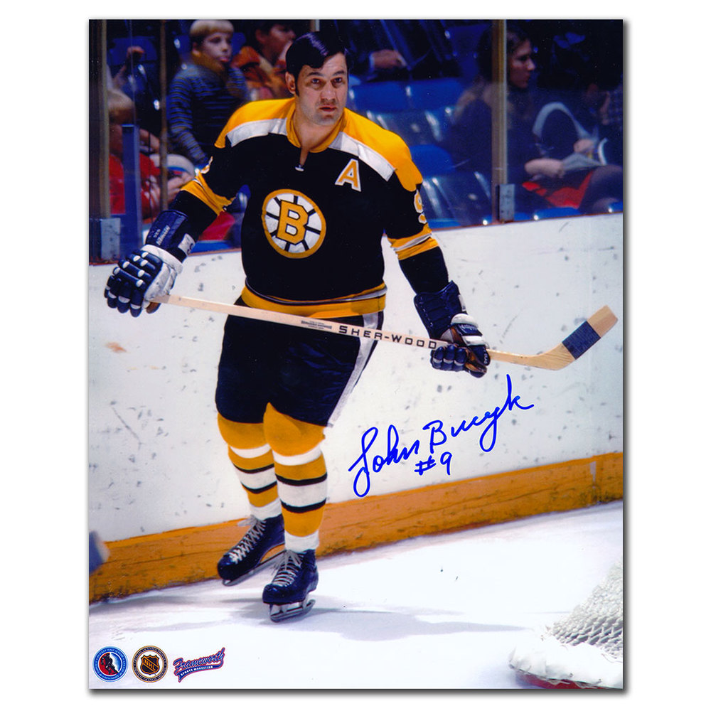 Johnny Bucyk Boston Bruins Autographed 8x10