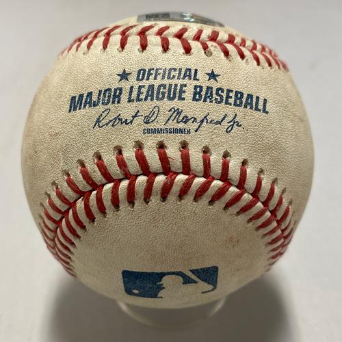 Photo of 2021 Game Used Baseballs used on 8/11 vs. ARI - B-5: Kelly to Ruf - Single to CF