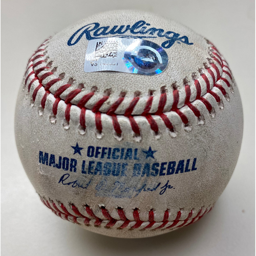 Photo of Game-Used Baseball:  Yu-Cheng Chang Cleveland Indians Walk (MLB AUTHENTICATED)