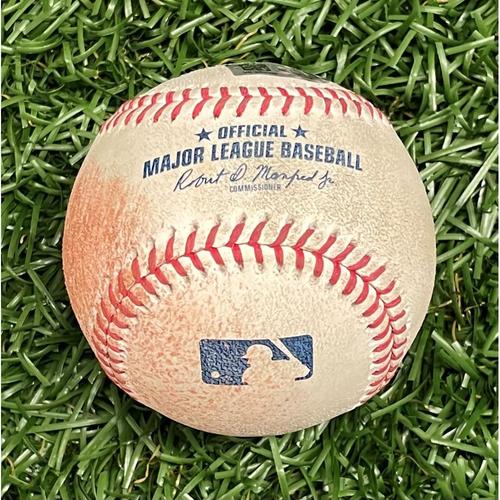 Photo of Game Used Baseball: Wander Franco MLB Debut - June 22, 2021 v BOS (See Description For Details)