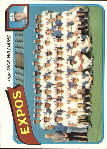 Photo of 1980 Topps #479 Montreal Expos CL/Dick Williams MG