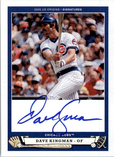 Photo of 2005 Origins Signatures #DK1 Dave Kingman T3