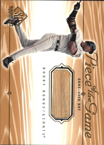Photo of 2001 SP Game Bat Edition Piece of the Game #BB Barry Bonds