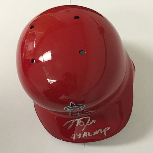 "Photo of Mike Trout Autographed ""14 AL MVP"" Angels Batting Helmet"