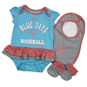 Toronto Blue Jays Newborn/Infant Wild Card Bib & Bootie Set by Majestic