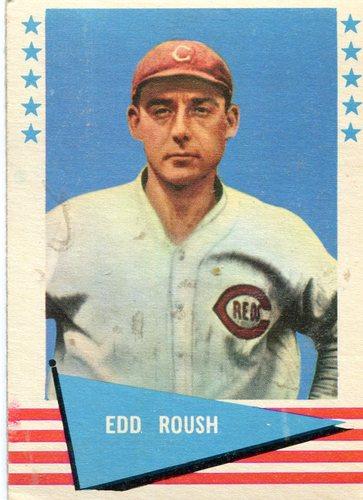 Photo of 1961 Fleer #72 Edd Roush -- Hall of Fame Class of 1962