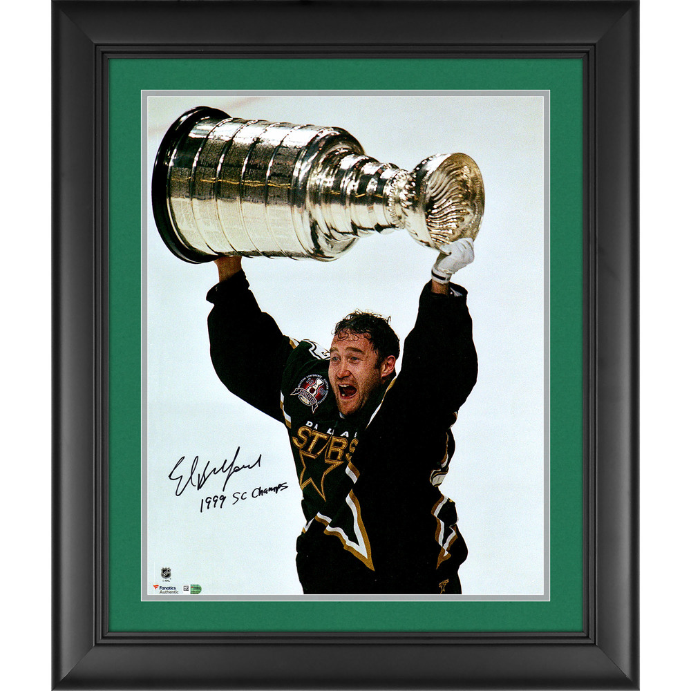 Ed Belfour Dallas Stars Framed Autographed 16